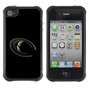 Be-Star único patrón Impacto Shock - Absorción y Anti-Arañazos Funda Carcasa Case Bumper Para Apple iPhone 4 / iPhone 4S ( Saturn Planet )