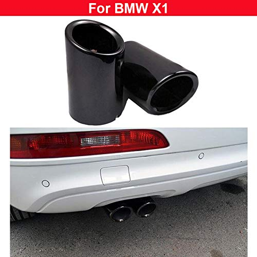 - 2x black Stainless steel Exhaust Muffler Tail Pipe Tailpipe For BMW X1 2010 2011 2012 2013 2014 2015 2016 2017 2018 2019
