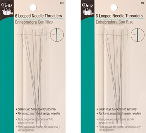 1 Pack Dritz Dritz Looped Needle Threaders - 6 Count (2 Pack) by Dritz