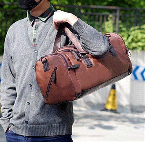 Los Hombres Hombres Xinmaoyuan Bolsos Bolso de Hombro transversal oblicua multifuncionales de gran capacidad Bolsa de viaje de ocio,Brown Brown