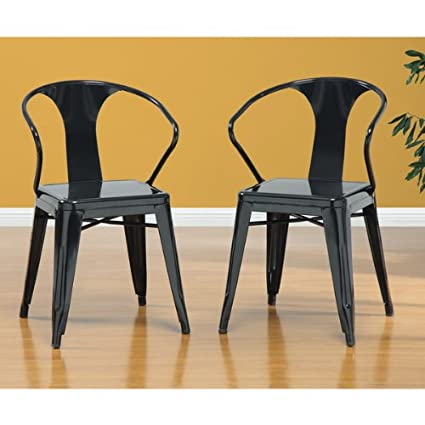 amazon com black 3522 044 tabouret stacking chairs set of 4