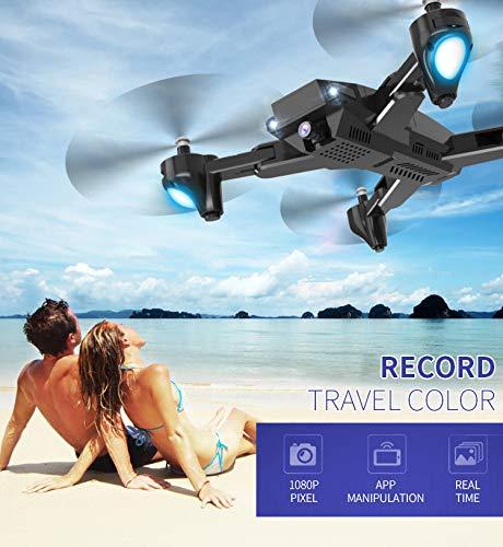 QGhead ヘッドレスクアッドコプター SJ R/C Z5 1080P 広角カメラ WiFi FPV GPS RC ドローン クアッドコプター + HDカメラライブビデオ付きバッテリー 大容量 低電圧アラーム One Size ブラック B07R4XSWPM