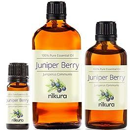 100% Pure Juniper Berry Essential Oil 10ml, 50ml, 100ml (2 x 10ml)
