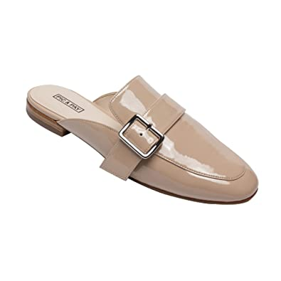 22e5223aec6 PIC PAY Dacia - Women s Leather Buckle Mule - Backless Slip-on Flat Leather