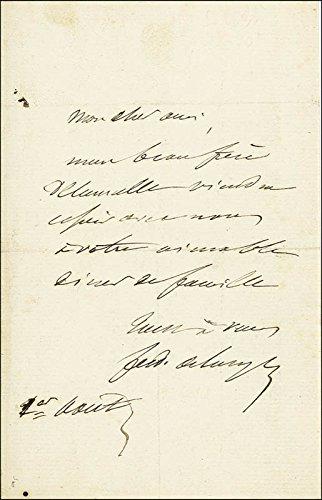 Ferdinand De Lesseps Autograph Letter Signed