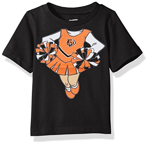 Cincinnati Bengals Cheerleader - NFL Infant Dream Cheerleader Short Sleeve Tee-Black-12 Months, Cincinnati Bengals