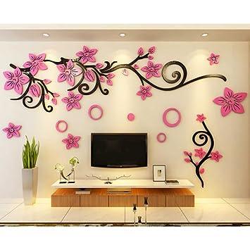 Romantische Reben 3d Stereo Acryl Wand Poster Wohnzimmer TV Wand Poster  Schlafzimmer Sind In Einem
