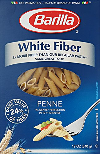 Barilla White Fiber Pasta, Penne, 12 Ounce (Pack of 8)