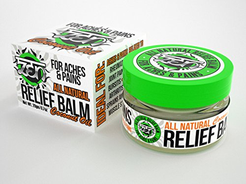 Zen All Natural Relief Balm with Coconut Oil - To relieve Aches & Pains from: Rheumatoid Arthritis, Backaches, Bursitis, Sore Muscles, Arthritis, Joint Pain, Leg Cramps, Sprains & Strains