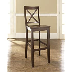 Crosley Furniture X-Back 24-inch Bar Stool – Black