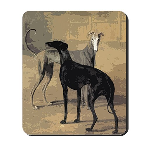 CafePress - Greyhound Card - Non-Slip Rubber Mousepad, Gaming Mouse Pad