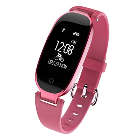 Amazon.com: TZZ Smart Watch Pulsera de mujer Fitness Beart ...