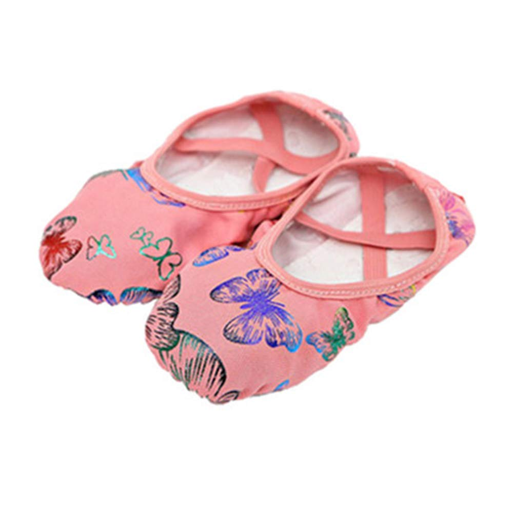 cici shoes Leather Shoes Split-Sole Slipper Flats Ballet Dance Shoes for Toddler Girl Boy Kid