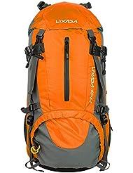 Lixada Hiking Backpack 50L Waterproof Travel Camping Daypack Trekking Backpack with Rain Cover