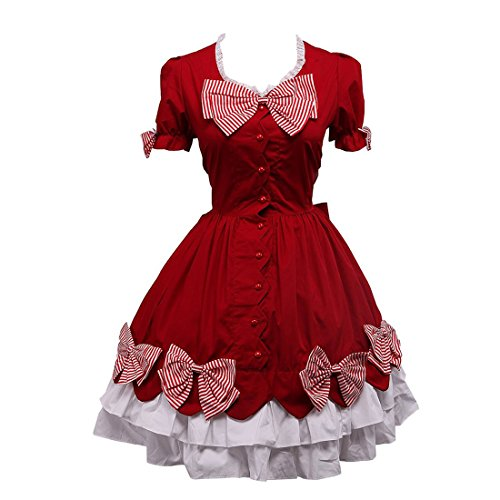 Cosplay Kleid Kleid Lolita Red Rot Kostuem Gothic Partiss dress Classic Uniform qpx0OO4