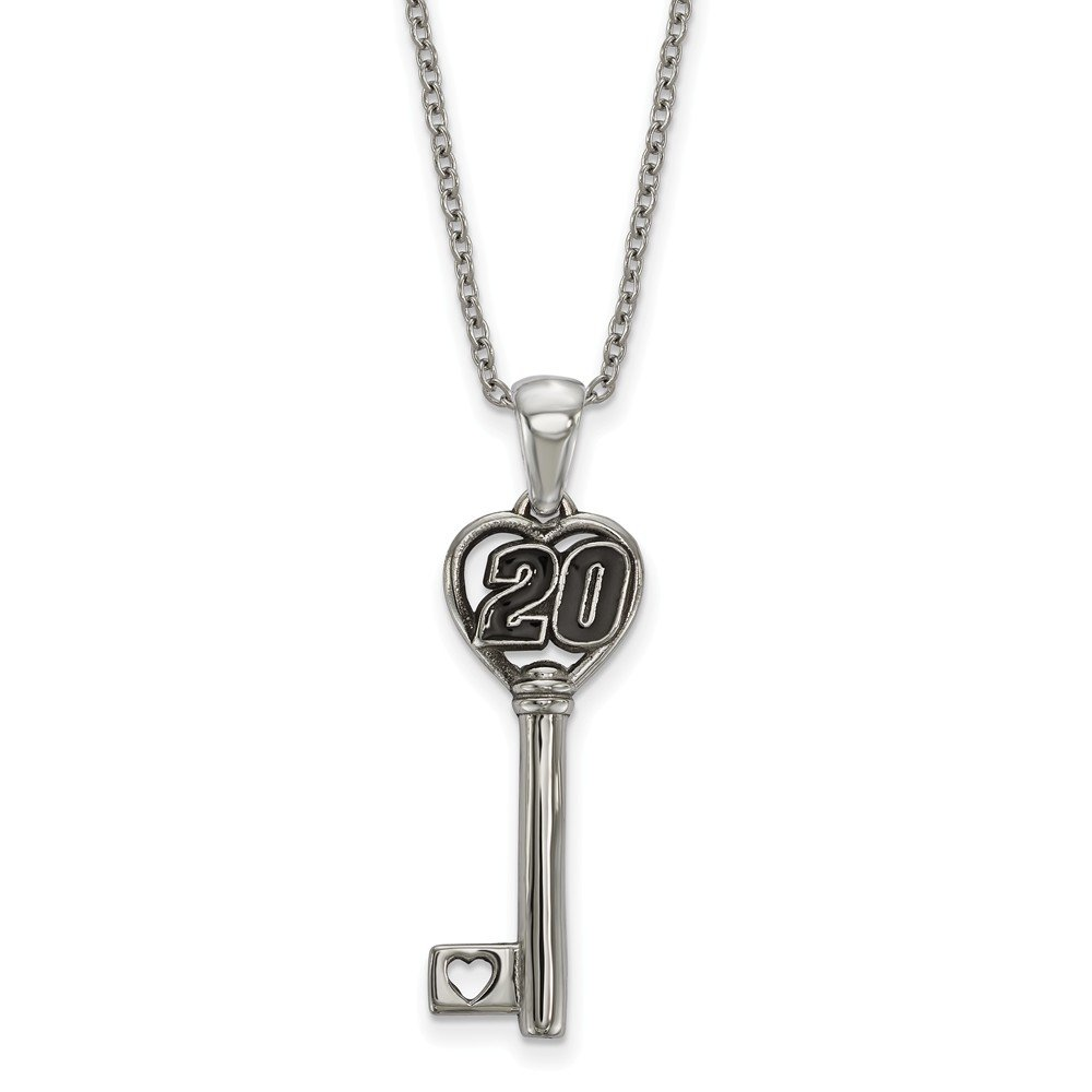 STAINLESS HEART KEY 1 SMALL W//DRIVER #20