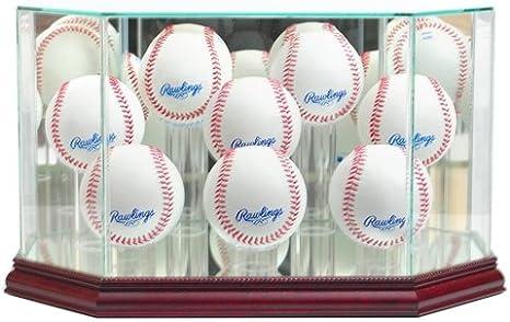 Octagon – Vitrina 8 pelota de béisbol con tapa de cristal y base ...