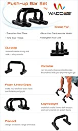 Wacces Black Plastic Push-up Push up Stand Bar for Workout Exercise