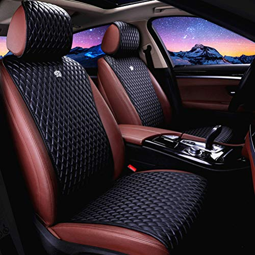 Universal Seat Covers for Cars 2/3 Covered Leather Auto Seat Covers 11PCS Black Car Seat Cover Fit...