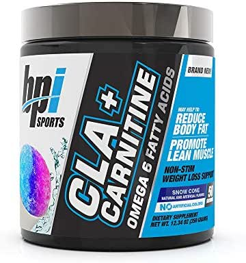 BPI Sports CLA + Carnitine – Conjugated Linoleic Acid – Weight Loss Formula – Metabolism, Performance, Lean Muscle – Caffeine Free – For Men & Women – Snow Cone – 50 servings – 12.34 oz.
