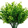 The Bloom Times Artificial Boxwood Pack Of 6 Artificial Greenery Stems Fake Outdoor Plants Uv Resistant For Farmhouse Home Garden Wedding Patio Indoor Decor In Bulk Wholesale