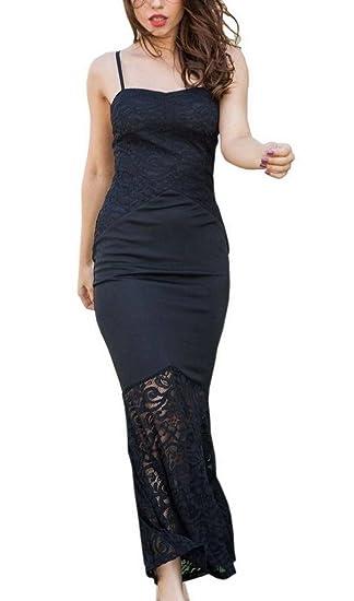 f082f2294bb3c YiyiLai Robe Moulante Femme Dentelle sans Manche Bretelle Cocktail Cérémonie  Casual Vintage: Amazon.fr: Vêtements et accessoires
