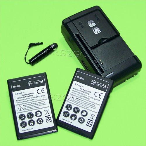 Amazon.com: NUEVO Estándar 2 x 2550 mAh batería cargador ...