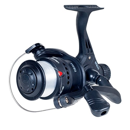 Gone Fishing Open Face Spinning Reel, Black