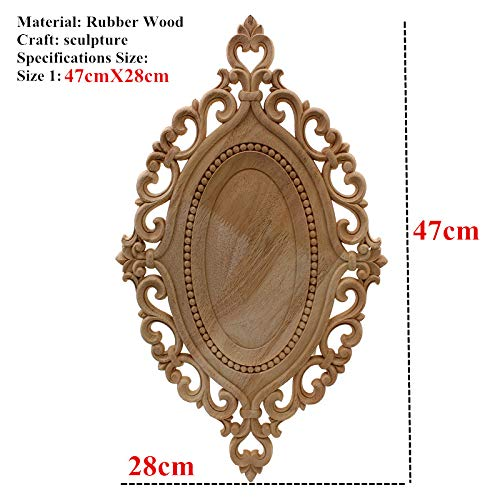 ARISLUX Crown of Wood - Simple Vintage Carved Decal Corner Onlay Frame Furniture Wall Unpainted for Home Cabinet Craft