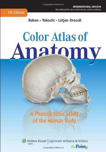 Color Atlas of Anatomy: A Photographic Study of the Human Body by Johannes W. Rohen, Elke Lutjen-Drecoll, Chichiro Yokochi (2010) Hardcover