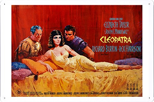 Cleopatra Movie Poster - Movie Poster Home Theater Decor Metal Tin Sign Wall Art by Masterpiece Collection 20*30cm (OIL-MFB0430)