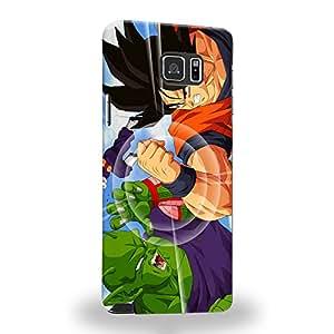 Case88 Premium Designs Dragon Ball Z GT AF Son Gohan Son Goku VS Piccolo Carcasa/Funda dura para el Samsung Galaxy Note 5