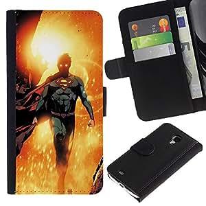Volar personaje del héroe dom Niños- la tarjeta de Crédito Slots PU Funda de cuero Monedero caso cubierta de piel Para Samsung Galaxy S4 Mini i9190 (NOT S4)