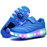 Nsasy YCOMI Girl's Boy's LED Roller Shoes with wheels Roller...