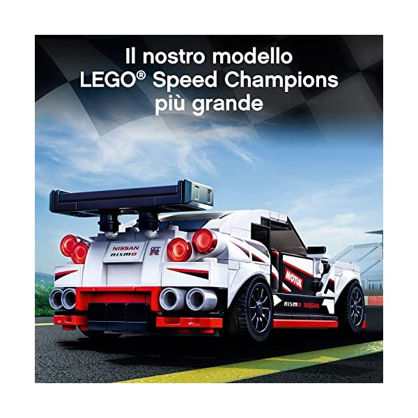 LEGO Speed Champions Nissan GT-R NISMO con Minifigure, Modello Realistico e Molto Dettagliato della Famosa Auto Sportiva… 6 spesavip