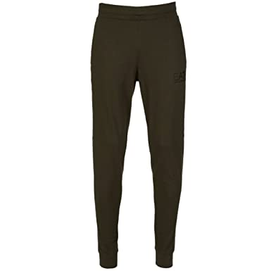 67b7bfc90a8 Emporio Armani Armani EA7 Khaki Green Jogging Bottoms  Amazon.co.uk   Clothing