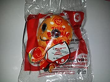 Mcdonald 2014 Happy Meal Toy Ty Teenie Beanie Boos Ollie # 4 Orange Octopus Plush by