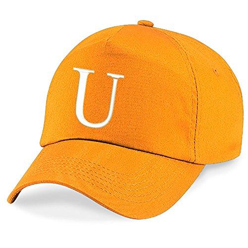 Bordado 4sold Alphabet Orange U Z Hat A Niños Niños Escuela Gorra T7OpgqC