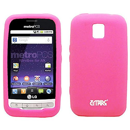 EMPIRE Hot Pink Rosa Silicone Skin Cover Case Tasche Hülle for LG Optimus M MS690