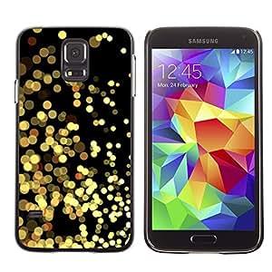 [Neutron-Star] Snap-on Series Teléfono Carcasa Funda Case Caso para Samsung Galaxy S5 [Luces amarillas Oro Espumoso Negro]