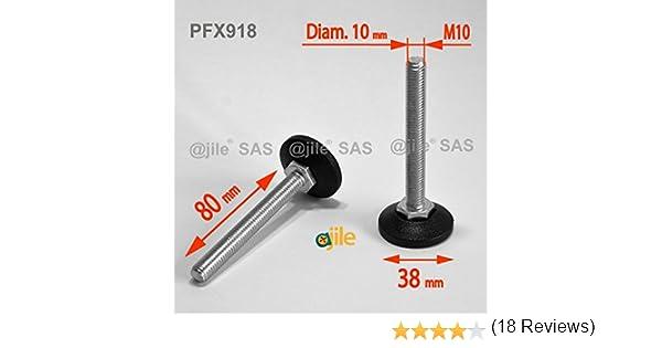 Ajile - Pata niveladora ajustable (80 mm, acero galvanizado ...