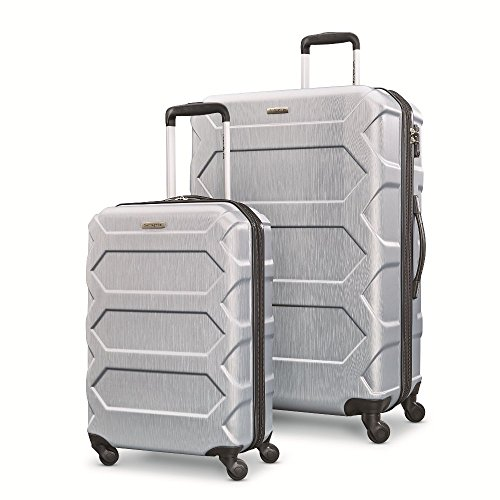 "Samsonite Magnitude Lx 2 Piece Nested Hardside Set (20""/28""), Silver, Only at Amazon"