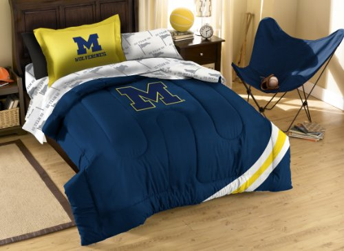 Officially Licensed NCAA Michigan Wolverines Twin Bedding Set by Northwest