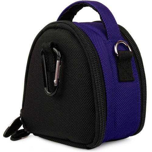 Magic Blue VG Laurel Edition Stylish Nylon Camera Carrying Case Pouch for Sony Cyber-shot DSC-TX9 / DSC-T99 / DSC-TX5 / DSC-H55 / DSC-HX5 / DSC-TX7 / DSC-S2100 / DSC-S2000 / DSC-W350 / DSC-W380 / DSC-W320 / DSC-W310 / DSC-W330 / DSC-W370 / DSC-TX1 / DSC-W230 / DSC-W290 / DSC-T900 / DSC-T90 / DSC-S980 / DSC-S950 / DSC-W220 / DSC-S930