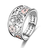 ANGEMIEL 925 Sterling Silver Cubic Zirconia Flower Promise...
