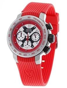DeTomaso Lucca Dt1017 - Reloj de caballero de cuarzo, correa de silicona color rojo