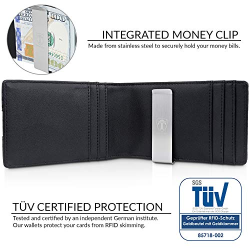 "TRAVANDO Money Clip Wallet""RIO"" - Mens Wallets slim Front Pocket RFID Blocking Card Holder Minimalist Mini Bifold Gift Box 3"
