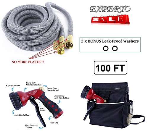 100ft Silver Expandable Garden Hose product image