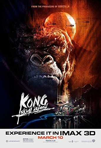 Kong: Skull Island Movie Poster, Tom Hiddleston, Brie Larson, Samuel L. Jackson, C, Made