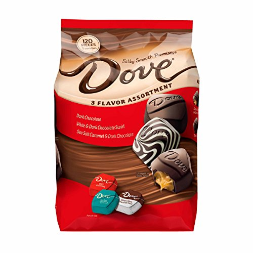DOVE PROMISES Mother's Day Variety Mix 3-Flavor Dark Chocolate Candy Assortment 34-Ounce Bag 120 Pieces